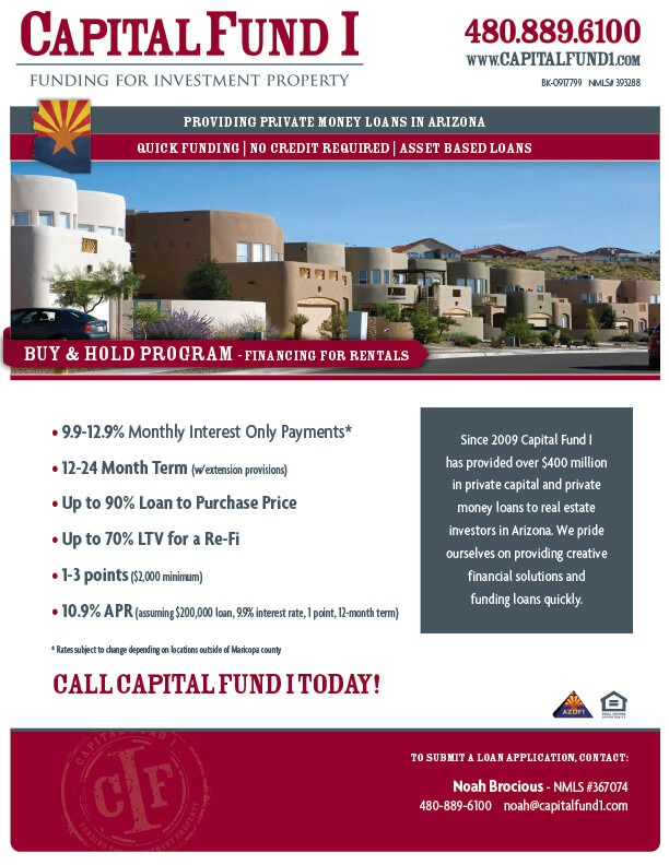 Arizona Buy and Hold Loans Informative Sheet