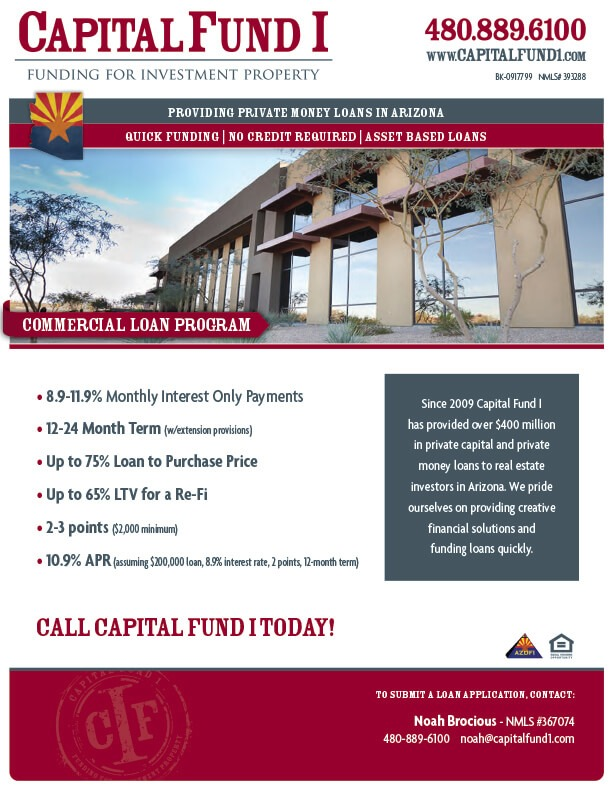 Capital Fund 1 Commercial Loan Brochure