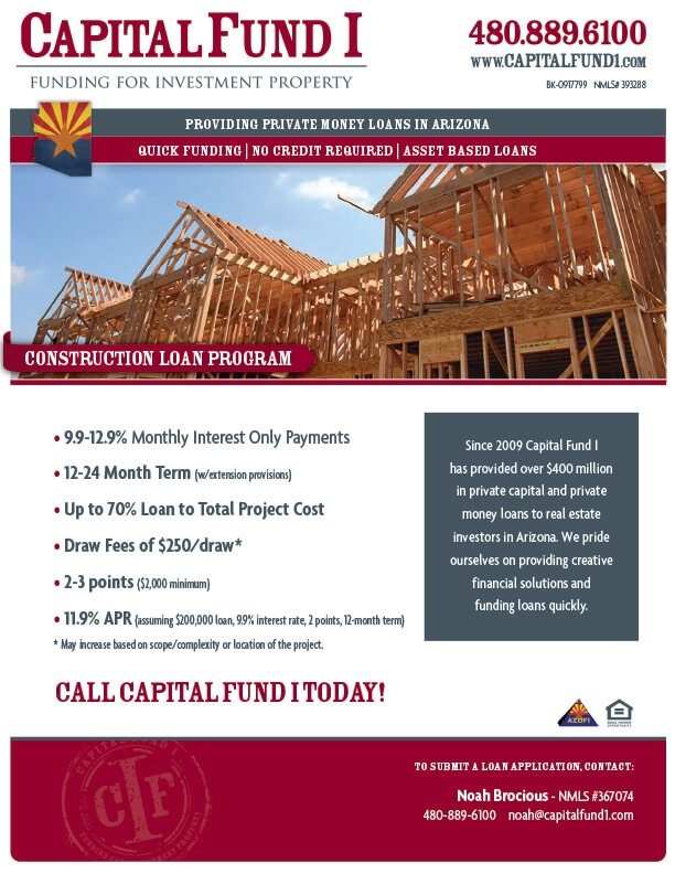 Construction land loans in arizona capital fund i Construction loan costs
