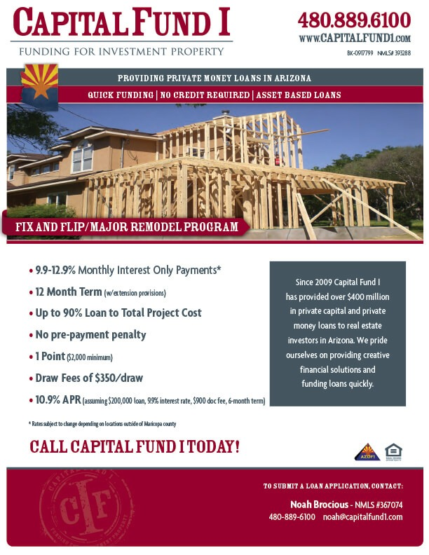 Arizona Fix and Flip Informational Flier