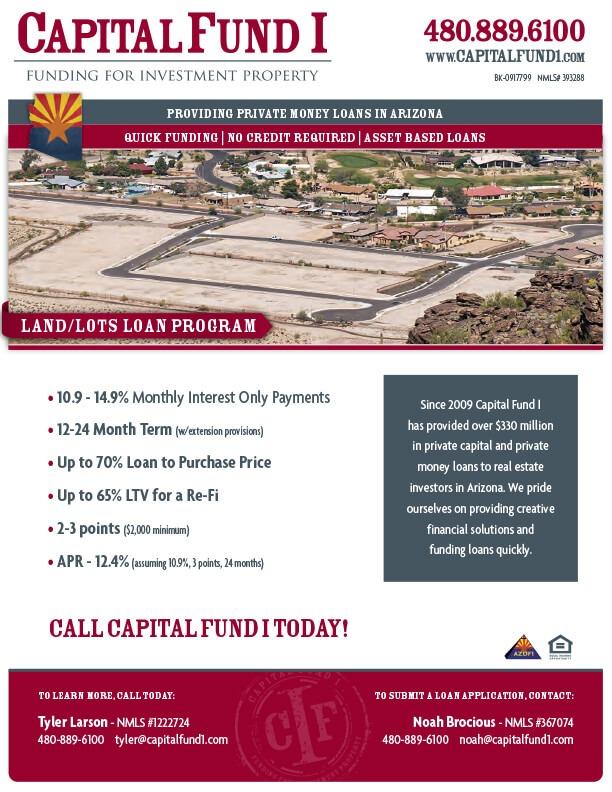 Land loans acquisition and development flier