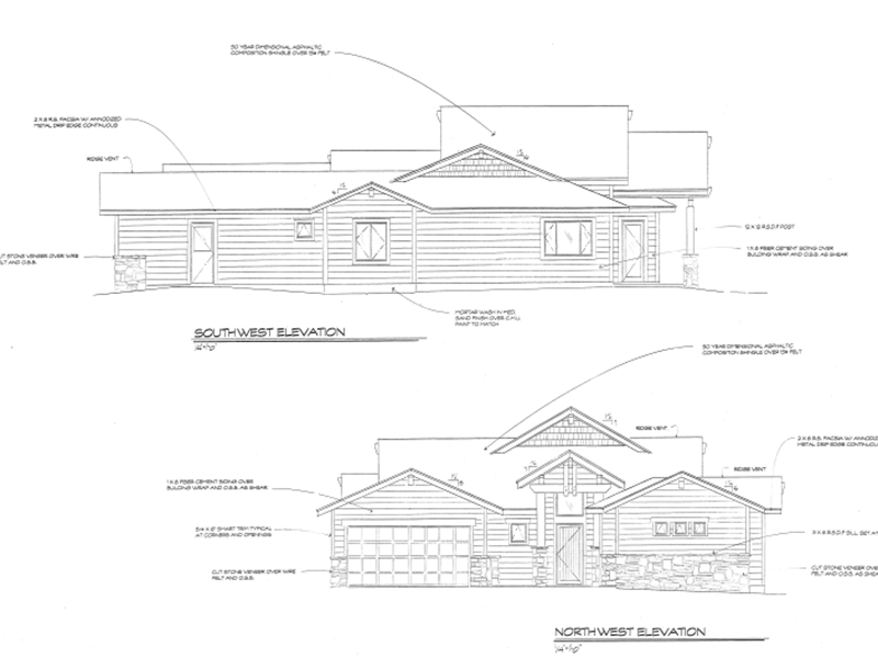 Scottsdale house exterior blueprint