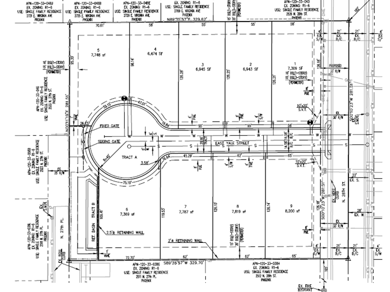 Blueprint of a Scottsdale development