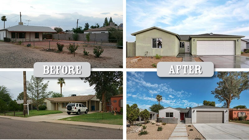New homes in the Biltmore area of Phoenix