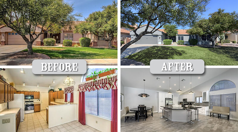 fix and flip before and after in Arizona