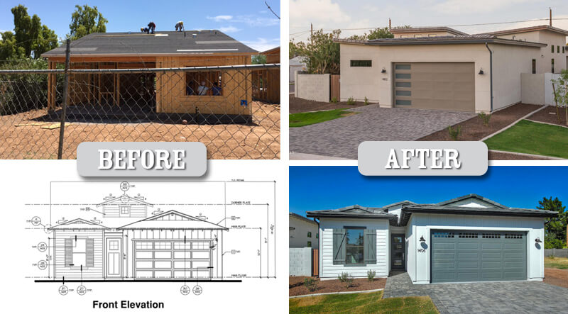 Before and after homes in Arizona