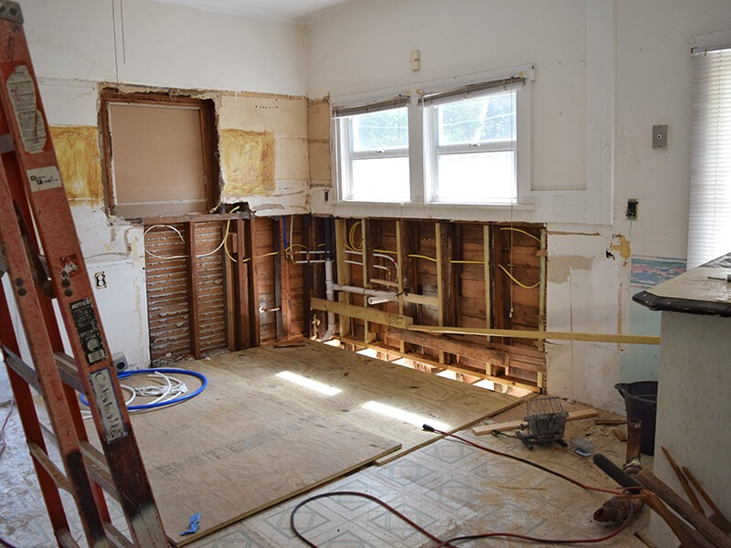 Inside a home remodel